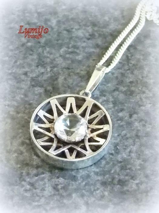 Kultaseppä Salovaara silver pendant, Finland Jewelry