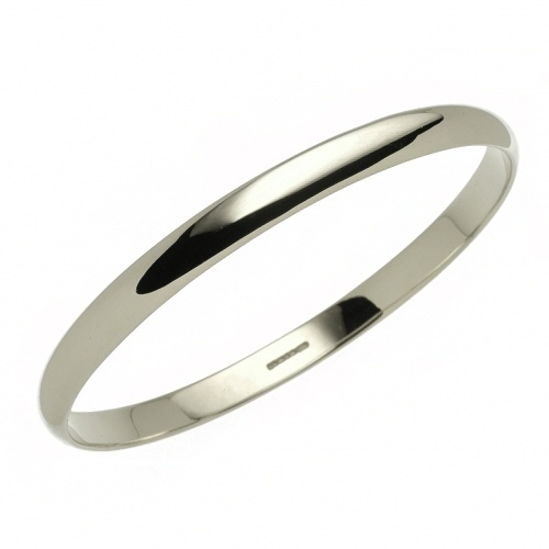 Sterling Silver Russian Slave 4mm Bangle / Bracelet Ladies 7.5