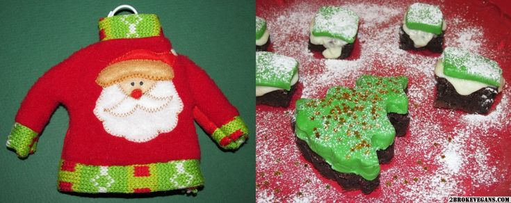 Χριστουγεννιάτικα σοκολατένια μπράουνις