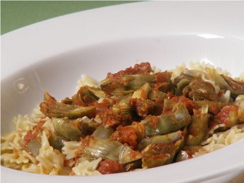 Farfalle with Artichoke Sauce | By: Cooking with Nonna