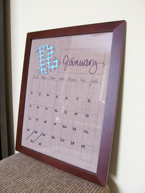 calender: Wall Art, Gift Ideas, Cute Ideas, Calendar Wall, Erase Calendar, Scrapbook Paper, Old Pictures, Pictures Frames, Dry Erase