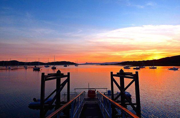 Arisaig sunset: Read my blog about Arisaig, Glenuig and Glenfinnan