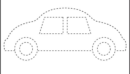 Picture Tracing - Car- 1 Worksheet