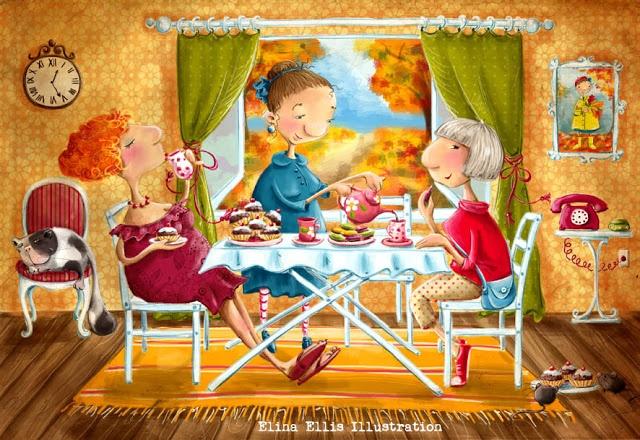 Elina Ellis Illustration: Girls