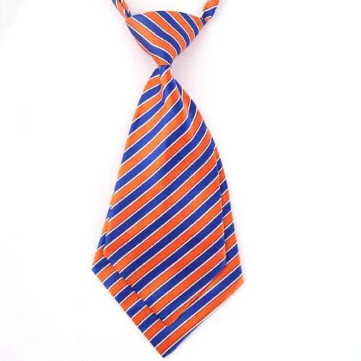 Детский галстук оранжевый с синим в полоску - купить в Киеве и Украине по недорогой цене, интернет-магазин