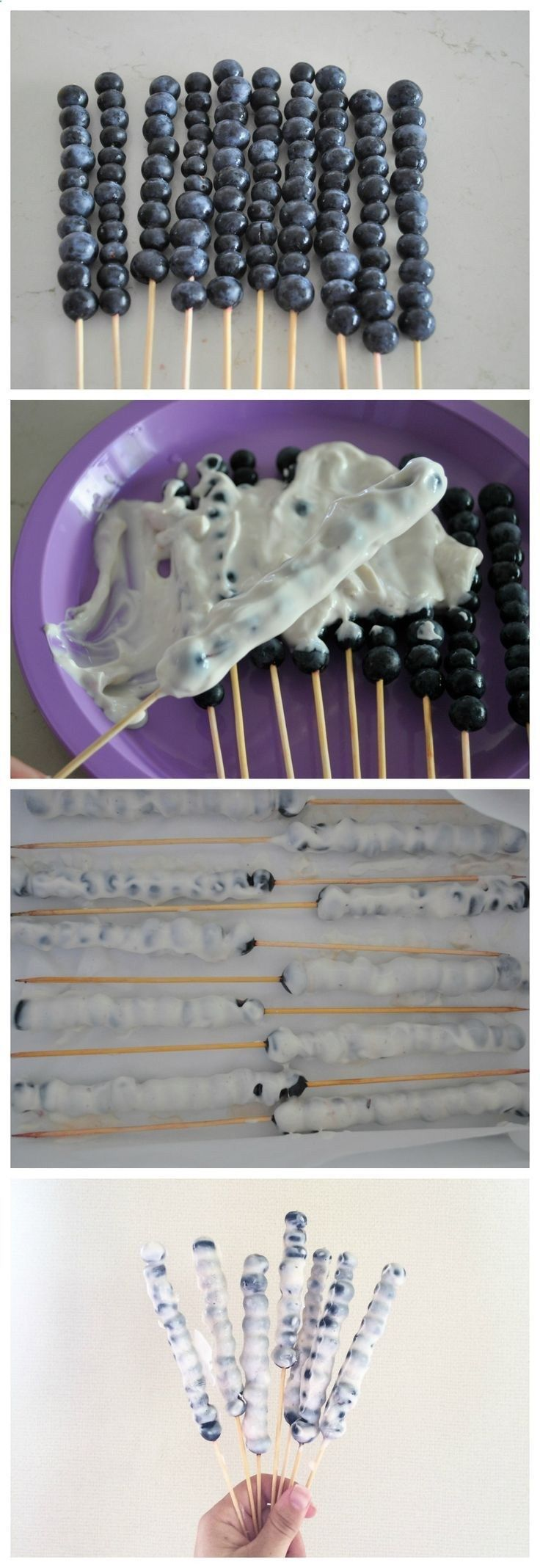 What a fun idea for summer! Use fresh or frozen berries and your favorite yogurt! Simple  easy!