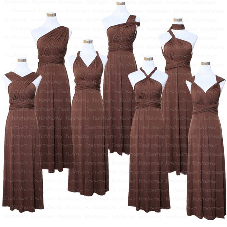long bridesmaid dress, convertible bridesmaid dress, chocolate bridesmaid dress, popular bridesmaid dress, 2015 bridesmaid dress, PD15104