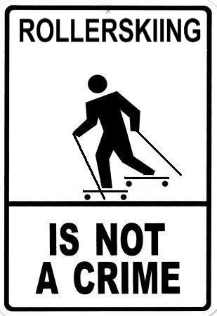 Dear cars,  swirving into me when I am roller skiing is not helping anyone.   Sincerely, every cross country skier out there