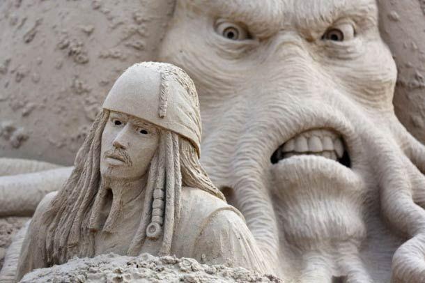 Esculturas de areia baseada em filmes