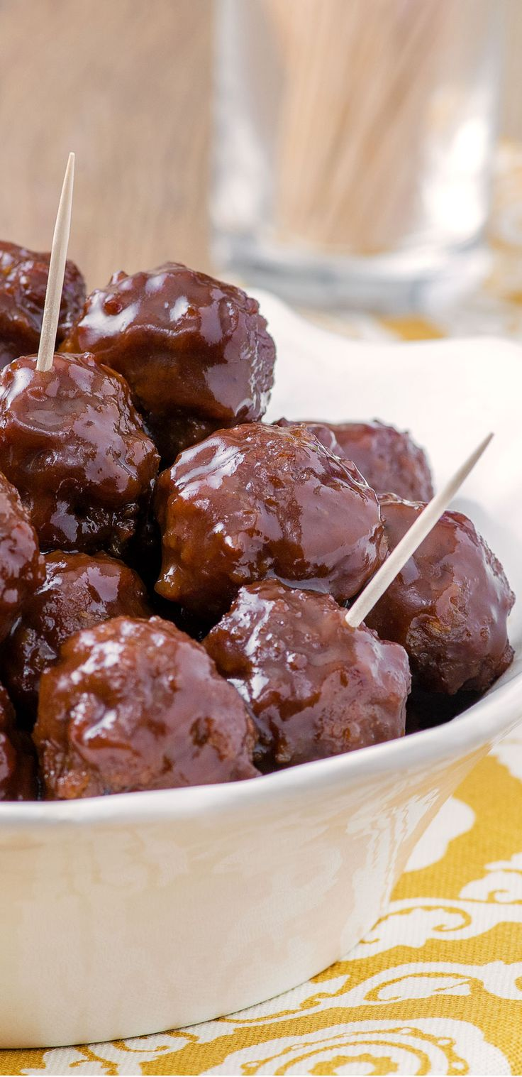 Welch's Official Grape Jelly Meatballs Recipe! The best Crock-Pot meatballs for…