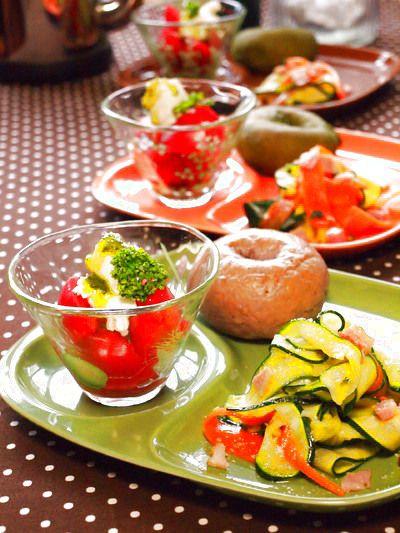 スライサーズッキーニのカロテンソテ~朝食」レシピ、作り方