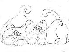 Resultado de imagem para desenhos+de+gatos+para+patch+aplique