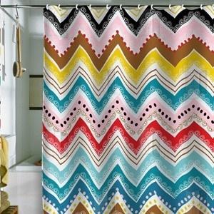 fun: Showers, Nolita Chevron, Design Khristian, Howell Nolita, Colors, Bath, Home Kitchens, Chevron Shower Curtains, Deni Design