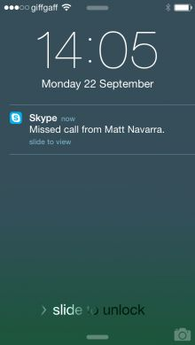 Skype gets the iOS 8 treatment, meaning you can now manage calls and messages from your lock screen