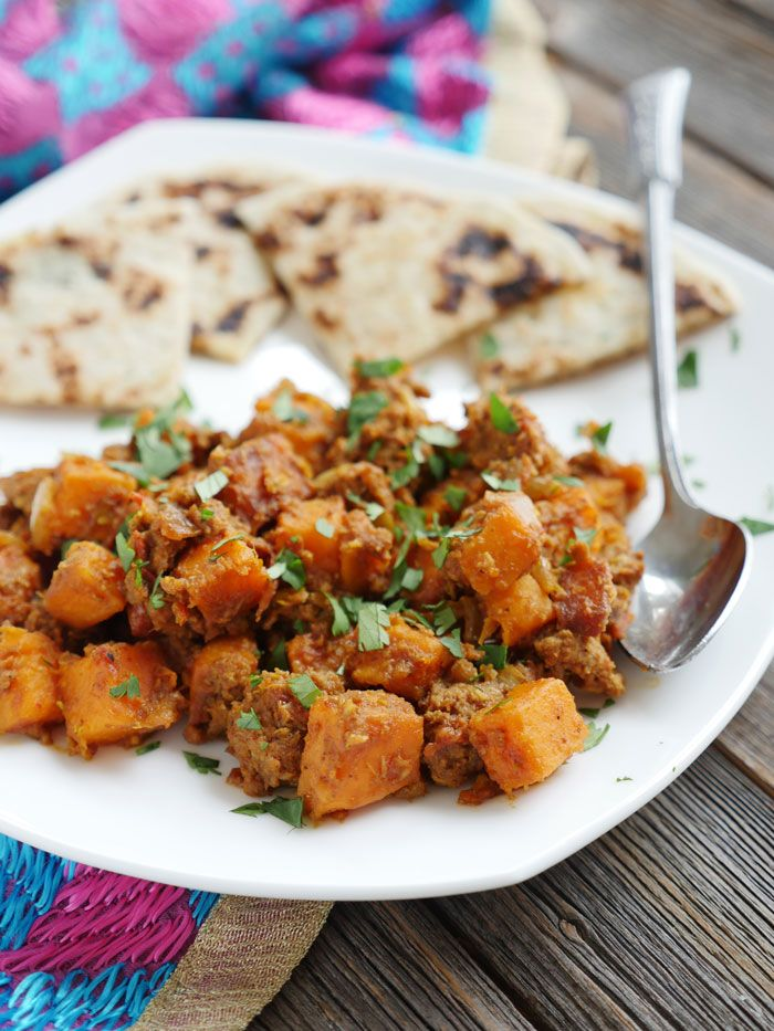 Ground Beef and Sweet Potato Curry - My Heart Beets