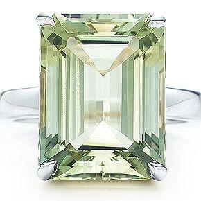 Loooooove emerald cut stones, Tiffany & Co.: Sparklers Praseolit, Quartz Cocktails, Praseolit Cocktails, Cocktails Rings, Sparklers Green, Sterling Silver, Green Quartz, Emeralds Cut, Tiffany Sparklers