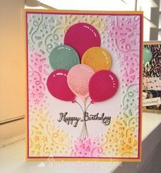 "34 Likes, 5 Comments - Sheila V. (@georgieluvsmum) on Instagram: ""iMakeCards... Bright sunny birthday card using #stampinup #ballooncelebration #balloonbouquetpunch…"""