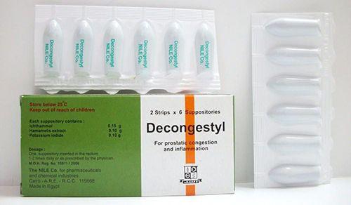ديكونجستيل تحاميل لعلاج التهابات البروستاتا Decongestyl Suppositories Suppository Urine Incontinence Incontinence