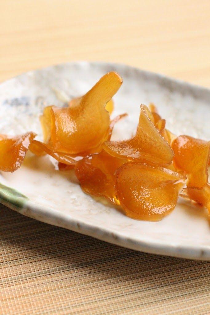 Gingembre confit au miel à la coréenne - Homemade honey candied ginger, korean style