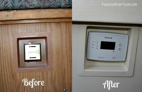 Pop Up Camper Remodel: thermostat redo  ( also good info on painting laminate.)
