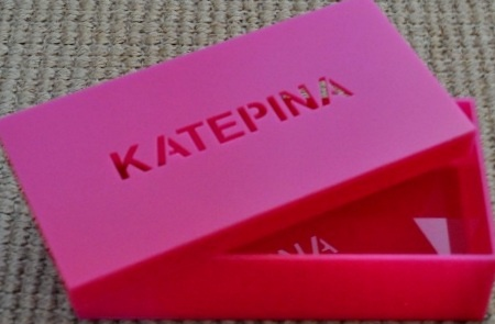 Personalized acrylic storage box; perfect girl's gift to store hair accessories