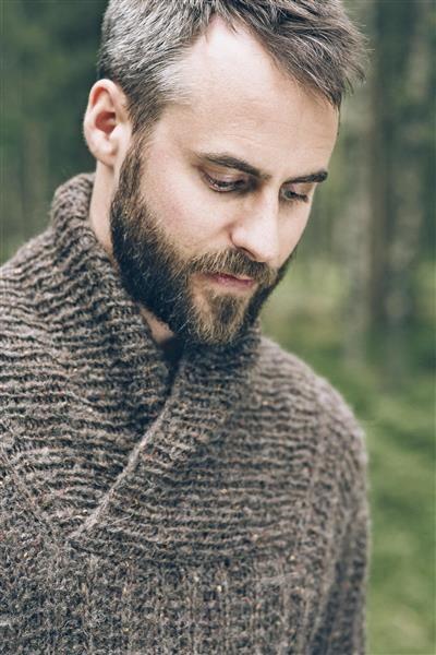 1414: Modell 9 Herregenser #Tweed #strikk #knit