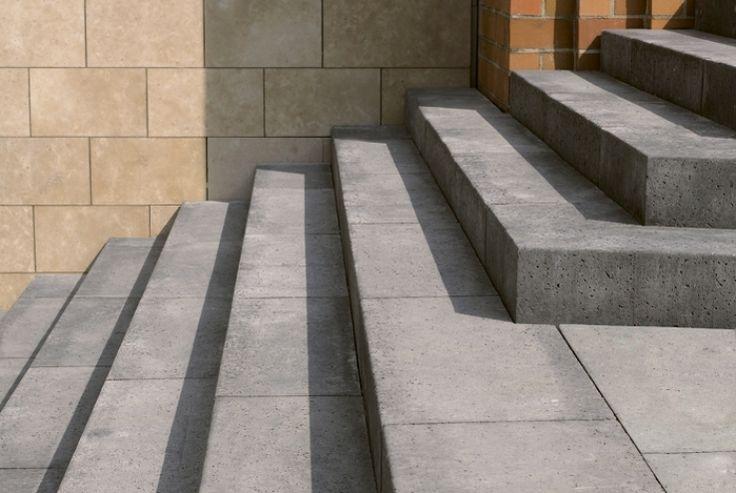 Betonnen traptrede blokmodel, 100x40x20 cm, www.schellevis.nl
