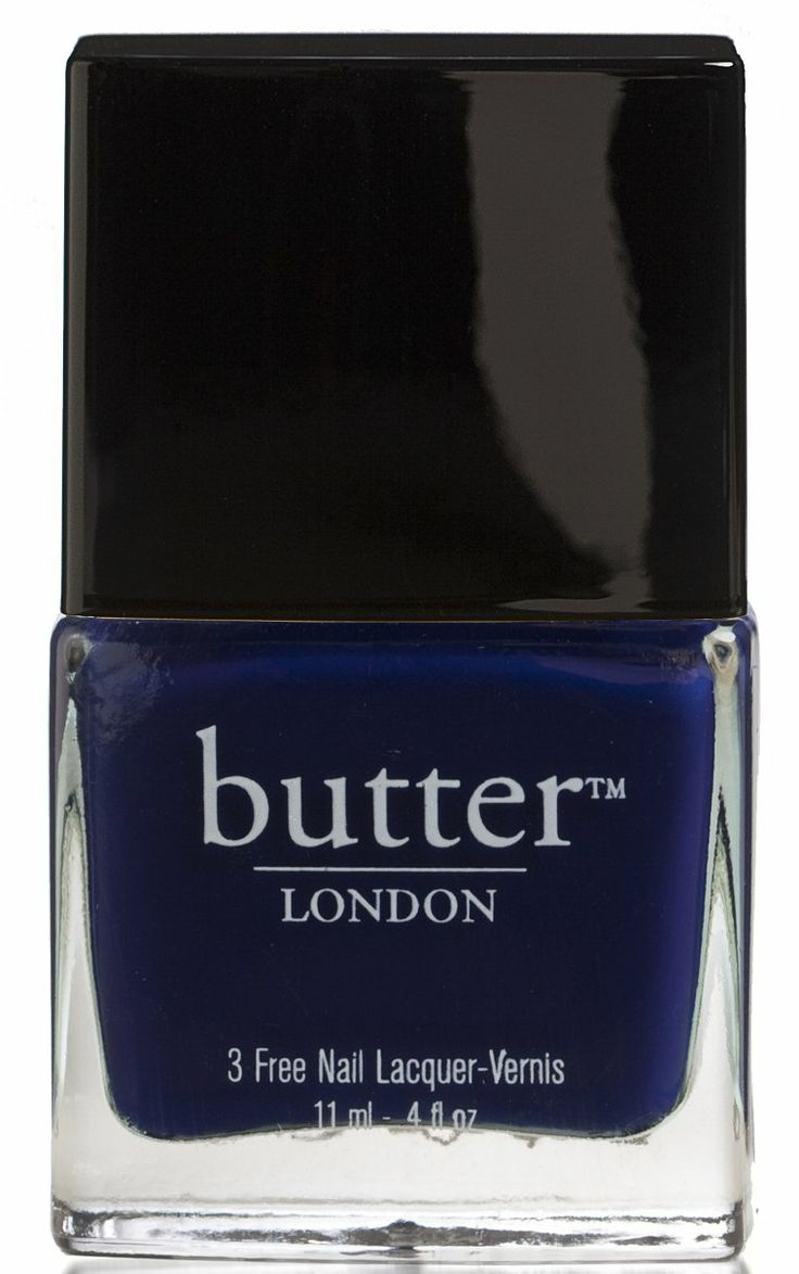 Navy Blue Nail Polish – Royal Navy : butter LONDONNavy Blue Nail Polish – Royal Navy : butter LONDON Use with diamond geezer (seran wrap to stipple on the silver) and leccy as top coat