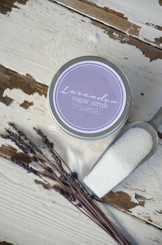 Lavender-essential-oil Sugar Scrub Recipe|theidearoom.net