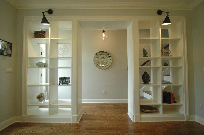Fantastic open bookshelf wall we looked at a house with for White open bookshelf