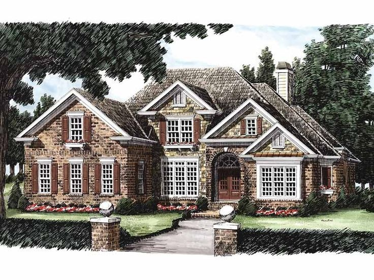 Eplans New American House Plan - Elegant Amenities - 3274 Square Feet and 4 Bedrooms from Eplans - House Plan Code HWEPL08212