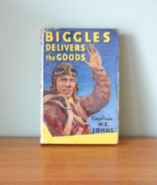 Vintage Childrens book Biggles Delivers the Goods London Hodder & Stroughton Limited 1951