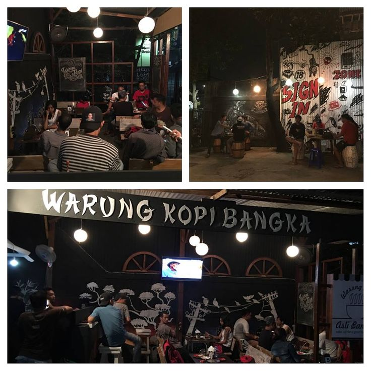 A night on Warkop Bangka so warm and very familiar. Get together the coffee.  More info: 0813 9273 9157