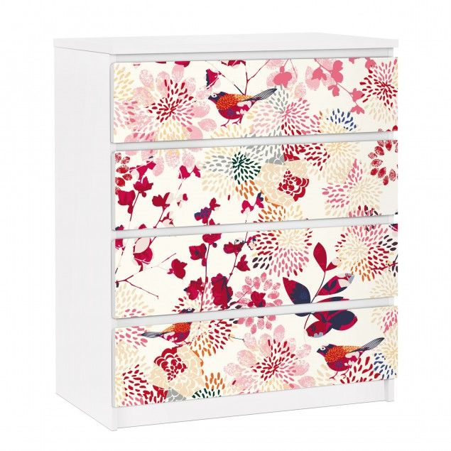 Awesome #ikea #hack #billy Furniture Decals #floral #illustrations Https://