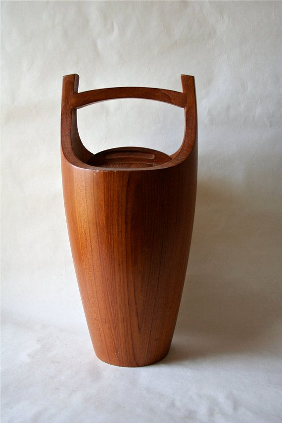 Dansk IHQ Staved Teak Wood Ice Bucket Wooden