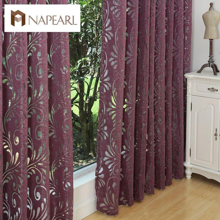 Wielu kolorach gotowych semi-panel niewidomych tkaniny blackout zasłony okienne fioletowy zasłony