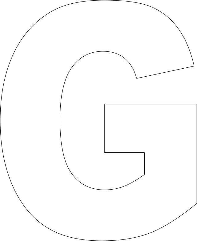 Tactueux image within printable letter g