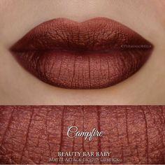Campfire Liquid Lipstick Matte Metallic Liquid by BeautyBarBaby