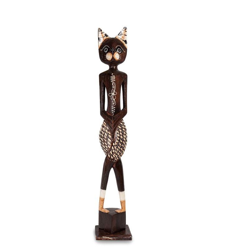 Статуэтка «Кошка» 35-047 (о. Бали)      Страна производства: Индонезия;   Материал: албезия;   Высота: 80 см;          #figurines #cats #Indonesia #кошки #статуэтки #фигурки #индонезия #дерево #албезия #wood
