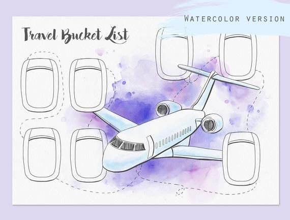 Travel bucket list Printable Travel journal insert Trip | Etsy