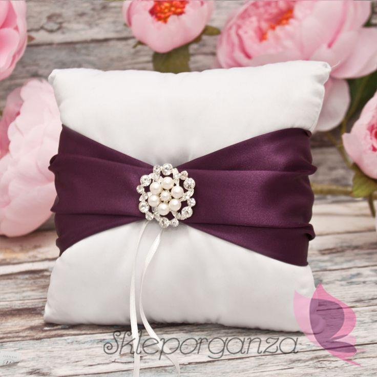 śliwka fiolet poduszka fiolet poduszka z obrączkami fioletowa poduszka na…