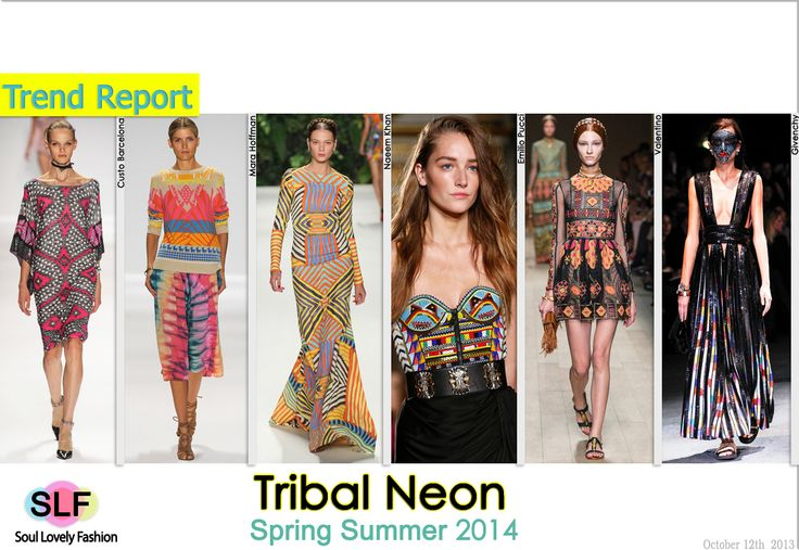 Neon Tribal Pattern Fashion Trend for Spring Summer 2014 #tribal #neon #print #prints  #fashion #spring2014 #trends #fashiontrends2014