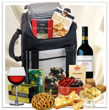 The 25 best wine hampers ideas on pinterest glass packaging alfresco gift basket appetizing gourmet food red wine hamper gift delivery in melbourne negle