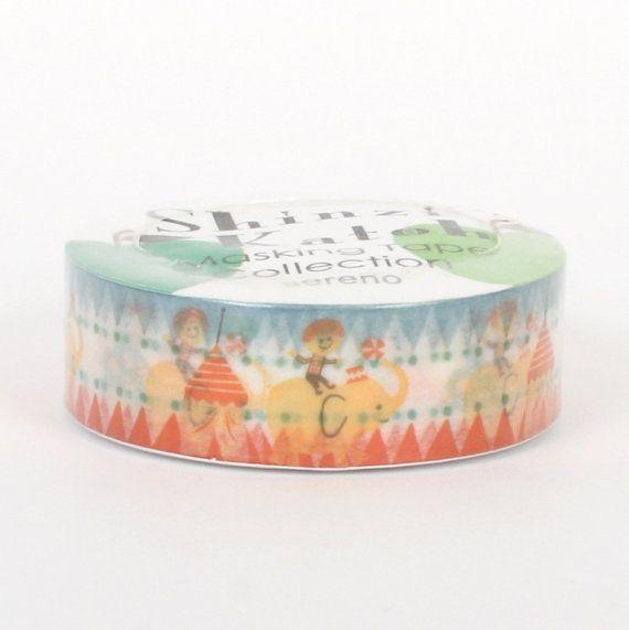 Shinzi Katoh washi / masking tape   Pop circus by Vespapel on Etsy, $2.30