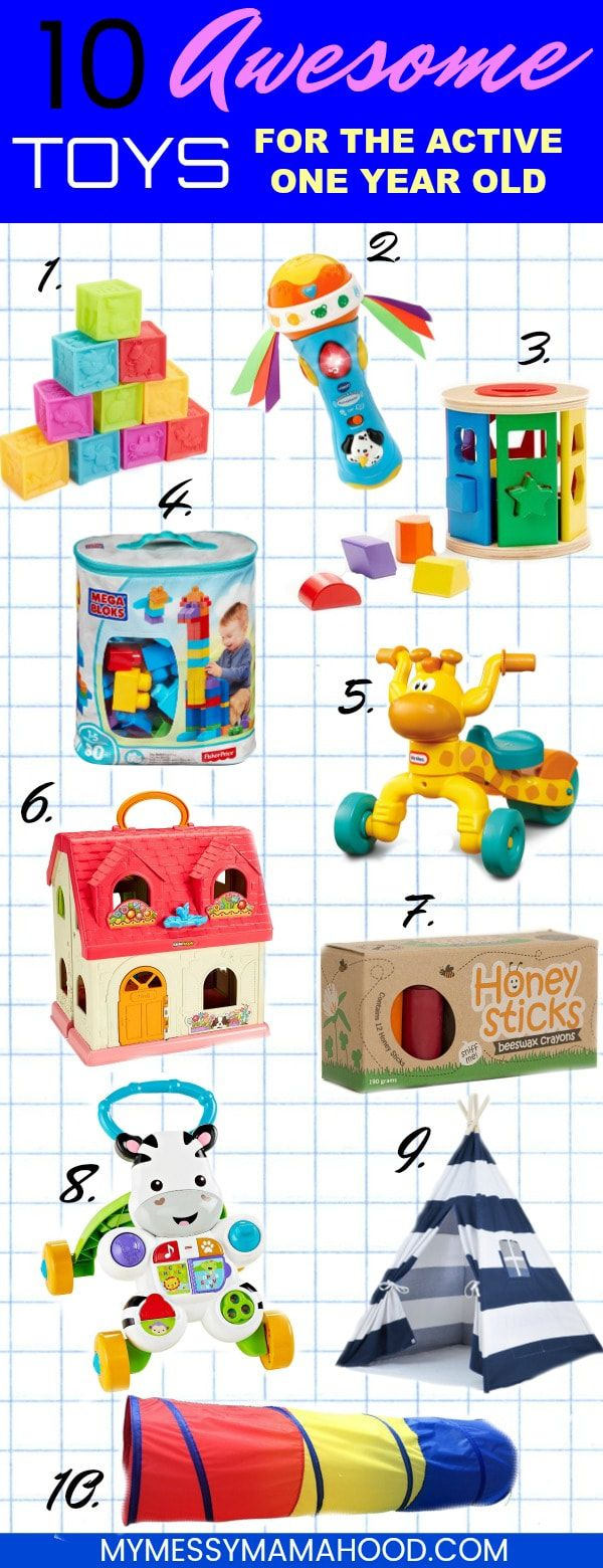 10 Toys To Keep Your Active One Year Old Engaged- amazing toys and activities to entertain, engage, and encourage creativity with growing one year old
