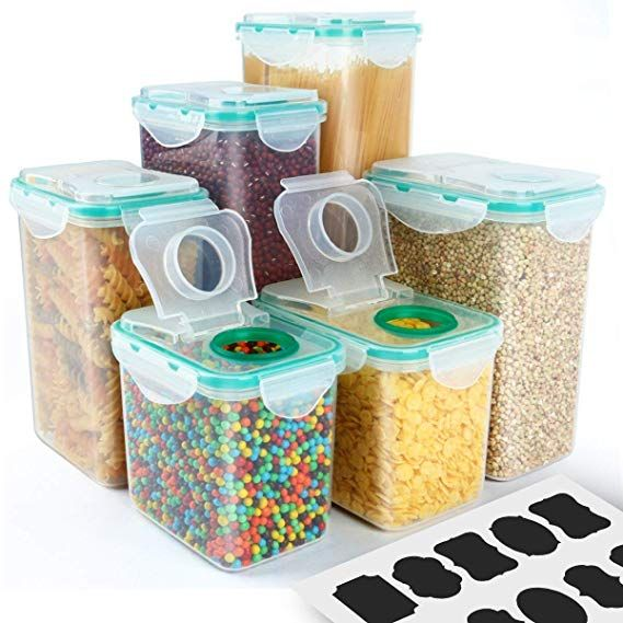 Cereal Container Verones Airtight Plastic Storage Containers Perfect For Fo Cereal Containers Food Storage Containers Plastic Airtight Food Storage Containers