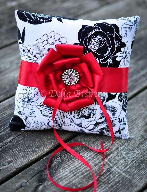 Ring bearer pillow Bridal / Wedding pillow by TouchOfEleganceByDel, $50.00