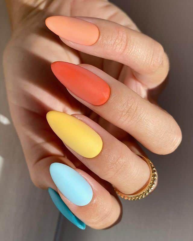 50+ Summer Nails To Give You Inspiration! - Prada & Pearls in 2021 | Pretty nails, Vibrant nails, Short acrylic nails