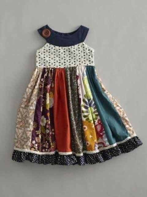 Vestido nena pachtwork