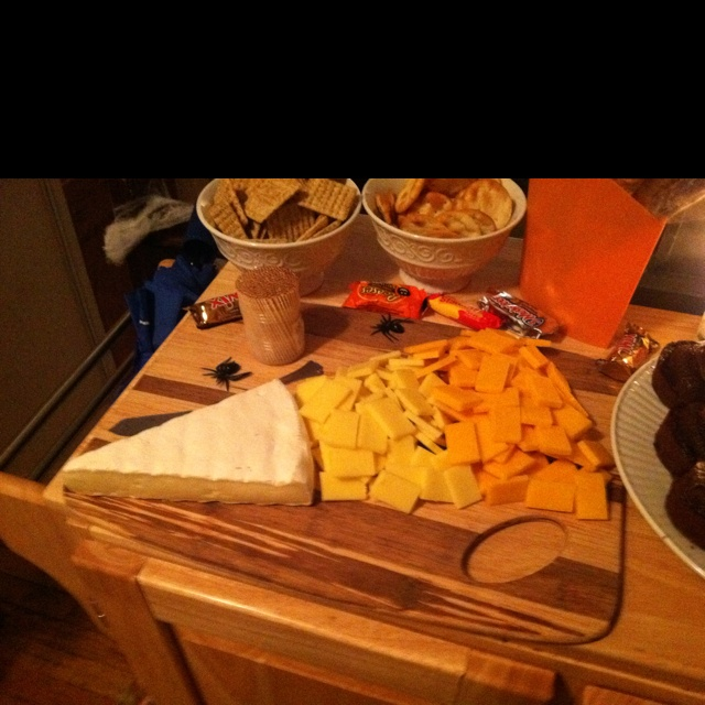 Candy corn cheese platter. Halloween Party Food!